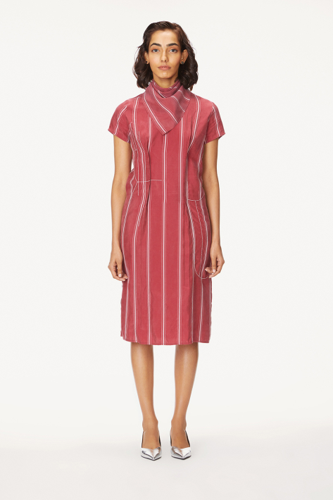 stand-up midi dress