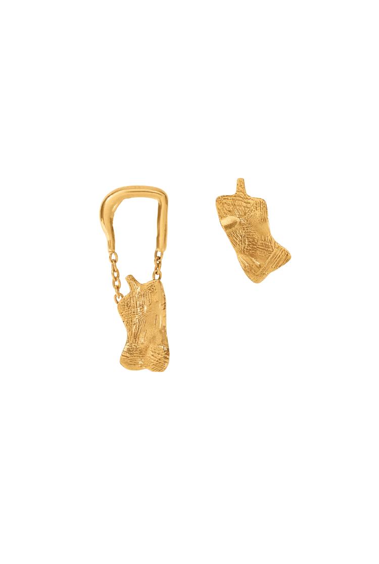off duty mismatched earrings