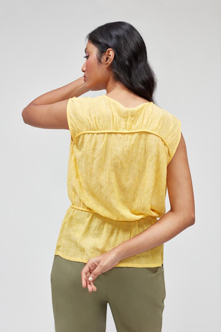 ruffle-up blouse